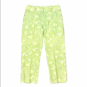 Lilly Pulitzer vintage animal print cropped pants